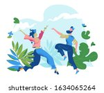 living in harmony with nature.... | Shutterstock .eps vector #1634065264