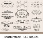calligraphic design elements... | Shutterstock .eps vector #163406621