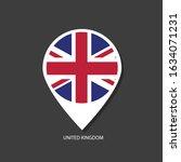 united kingdom flag vector... | Shutterstock .eps vector #1634071231