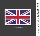 united kingdom flag vector... | Shutterstock .eps vector #1634071327