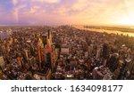 New York City Skyline With...