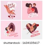 love story of happy romantic...   Shutterstock .eps vector #1634105617