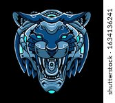 cyber tiger head vector...   Shutterstock .eps vector #1634136241