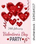 beautiful gemstone heart for... | Shutterstock .eps vector #1634164117