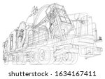 coiled tubing unit machine. the ... | Shutterstock .eps vector #1634167411