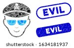 mosaic evil soldier face and...   Shutterstock .eps vector #1634181937