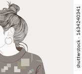 the woman turned out to be sad... | Shutterstock .eps vector #1634240341