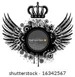 heraldic shield or badge with... | Shutterstock .eps vector #16342567