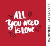 romantic confession brush...   Shutterstock .eps vector #1634277844