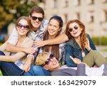 summer holidays  education ... | Shutterstock . vector #163429079