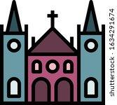 church   wedding icon set. high ...