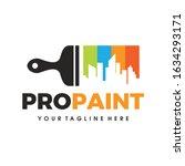 city paint logo  house paint ... | Shutterstock .eps vector #1634293171