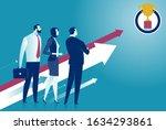 planning target. team... | Shutterstock .eps vector #1634293861