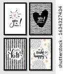 valentine day hand lettering... | Shutterstock .eps vector #1634327434