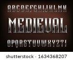 medieval alphabet font.... | Shutterstock .eps vector #1634368207