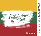 lithuania independence day... | Shutterstock .eps vector #1634377267