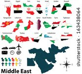 vector of political map of... | Shutterstock .eps vector #163438064