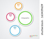 abstract infographics number... | Shutterstock .eps vector #163439639