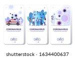 set coronavirus cells epidemic... | Shutterstock .eps vector #1634400637