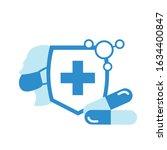 epidemic mers cov floating...   Shutterstock .eps vector #1634400847