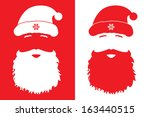 santa claus  fashion style | Shutterstock .eps vector #163440515