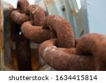 Ship Rusty Anchor Chain On A...