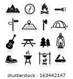 collection of outdoor and... | Shutterstock .eps vector #163442147