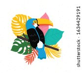 bright toucan bird with... | Shutterstock .eps vector #1634429191