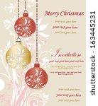 festive christmas party... | Shutterstock .eps vector #163445231