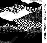 art geometric background. black ... | Shutterstock .eps vector #1634526247