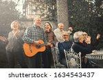 Group Of Seniors Celebrating...