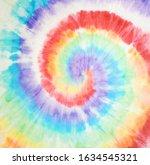 tie dye design. artistic fabric.... | Shutterstock . vector #1634545321