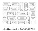 ticket icon vector set. line...