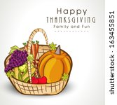 happy thanksgiving day... | Shutterstock .eps vector #163455851