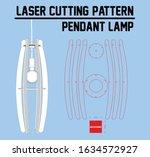 laser cutting pendant lamp. ... | Shutterstock .eps vector #1634572927