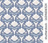 french blu shabby chic damask... | Shutterstock .eps vector #1634606524