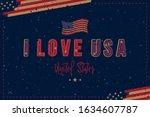 banner i love usa. patriotic...   Shutterstock .eps vector #1634607787