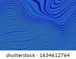blue wavy dynamic backdrop.... | Shutterstock .eps vector #1634612764
