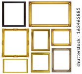 antique frame isolated on white ... | Shutterstock . vector #163463885