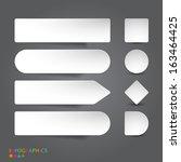 abstract infographics banner ... | Shutterstock .eps vector #163464425