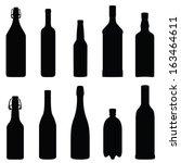 collection of bottles  vector... | Shutterstock .eps vector #163464611