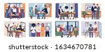 office workers work in team... | Shutterstock .eps vector #1634670781