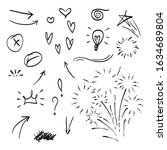 vector hand drawn collection of ...   Shutterstock .eps vector #1634689804
