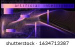 opalescent holographic wavy...   Shutterstock .eps vector #1634713387