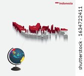 3d map of indonesia  background ...   Shutterstock .eps vector #1634722411