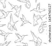 hummingbird seamless pattern....   Shutterstock .eps vector #1634760127