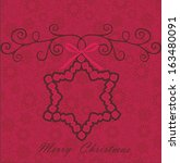 christmas card  | Shutterstock .eps vector #163480091