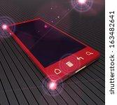 touchscreen smart phone | Shutterstock . vector #163482641