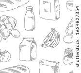 food seamless pattern....   Shutterstock .eps vector #1634827354