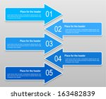 abstract numbered banners with... | Shutterstock .eps vector #163482839